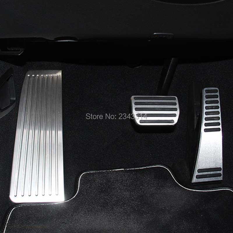For Hyundai Tucson 2015-2017 Stainless Steel Car Footrest Pedal Pad Cover Trim