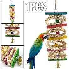 Игрушки для домашних животных, птиц, попугая, из натурального дерева, кукуруза, трава, жевательный укус, подвесные игрушки, аксессуары, лестница, жевательные игрушки, товары для птиц