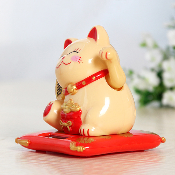 2019 Waving Hands Lucky Cat Wealth Fortune Cat Ornament for Home Office Checkout