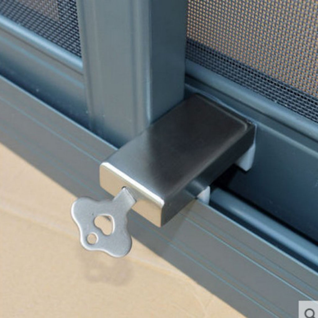 Sliding/Slide Window Door Stopper Sash Lock For Home Kids Children Security
