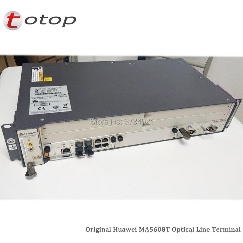 Huawei OLT MA5608T GPON עם 2 * MCUD1 10GE + 1 * MPWD AC כוח לוח 220 V