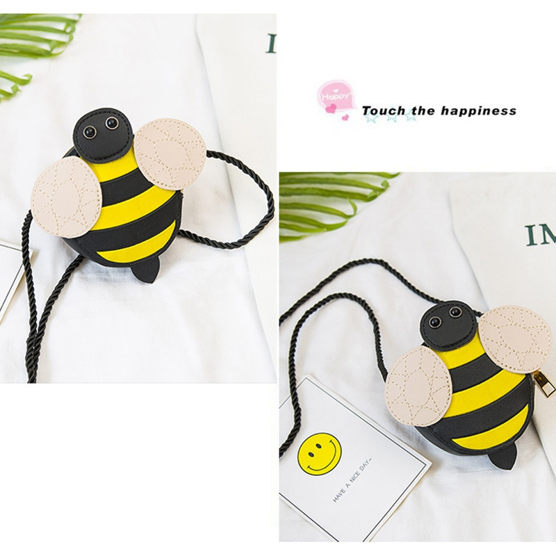 Bee Cute Children 39 S Shoulder Bag Personality Wild Purse Mini Accessories Bag for Kids in Coin Purses from Luggage amp Bags