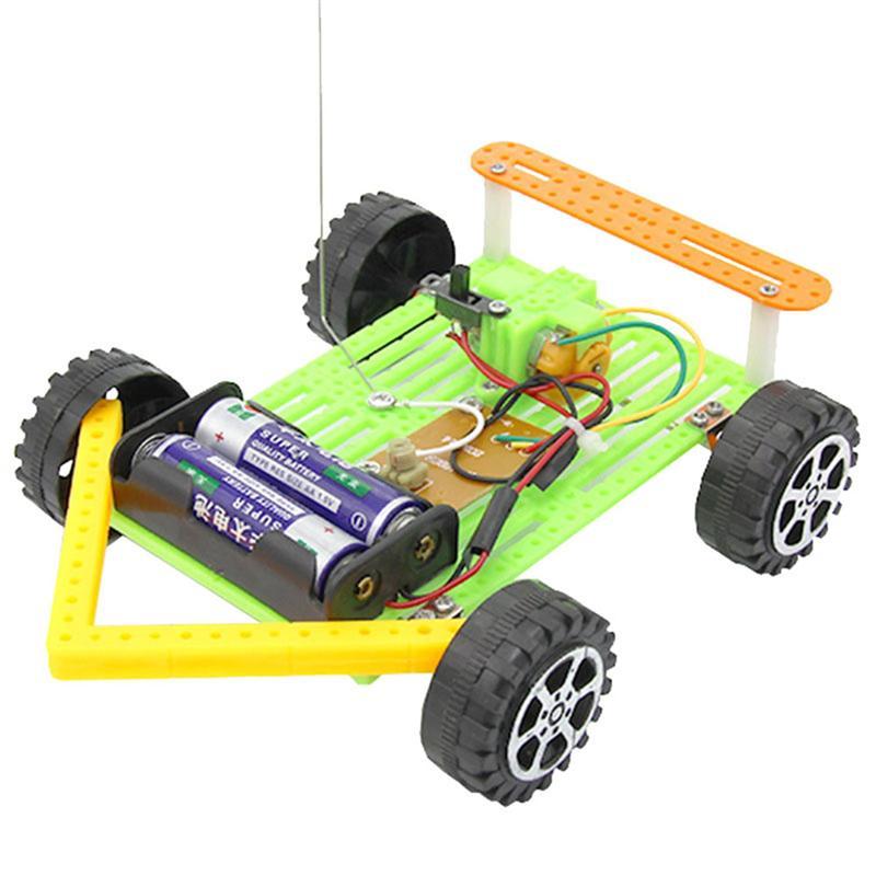 1 Stücke Montage Diy Drahtlose Rc Auto Lustige Wissenschaftliche Handgemachte Pädagogisches Spielzeug Modell Kit Für Studenten Kinder