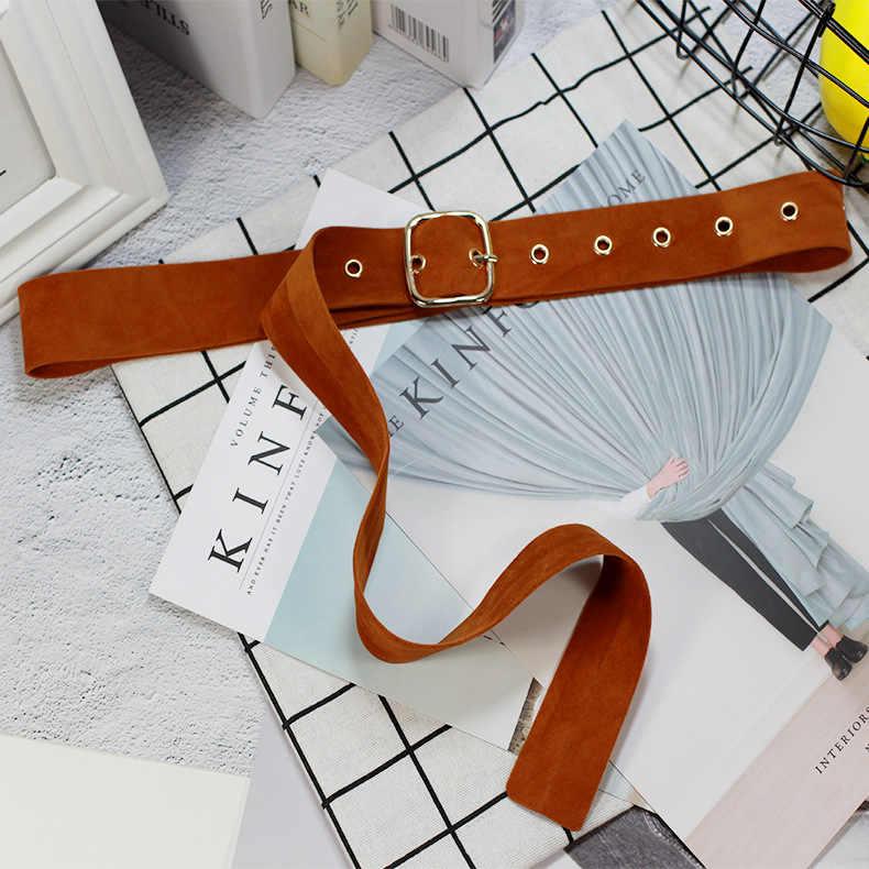 Cinturón Hirigin para mujer, cinturones vaqueros que combinan con todo, cinturón de cintura con adorno de vestido de 6 colores, cinturón Vintage para chica