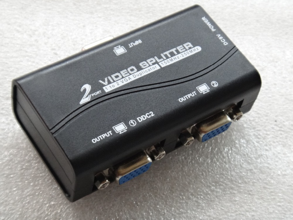 Computer & Büro Schwarz 1 Zu 2 Ports Vga Video Splitter Duplizierer 1-in-2-out 250 Mhz Gerät Cascadedable Stiefel Video Signale 65 Mt 1920*1440 Duftendes Aroma