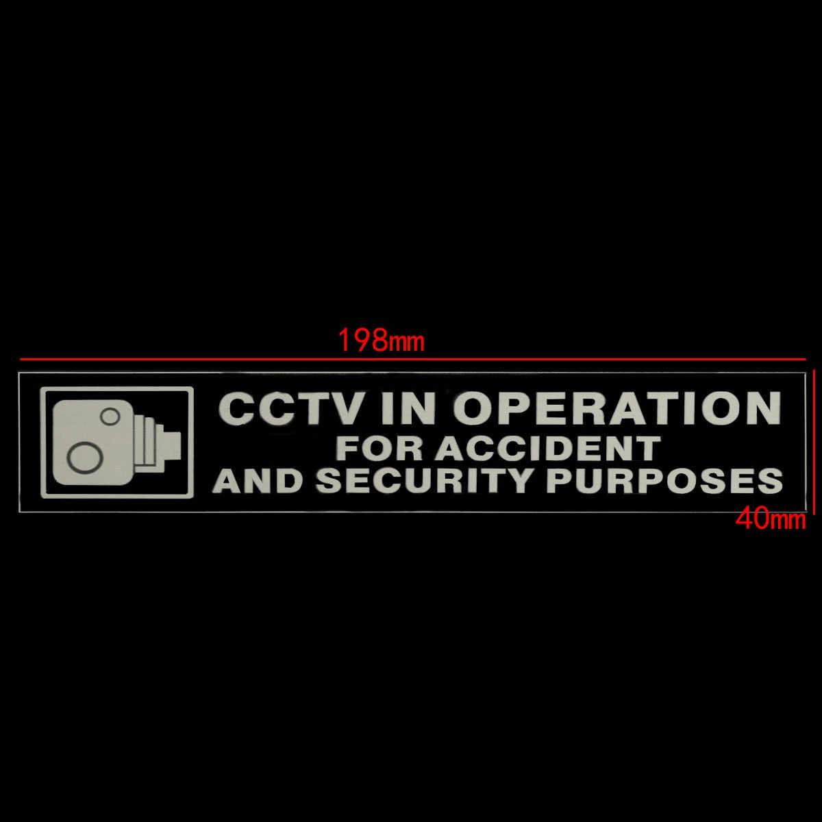 2 Pcs CCTV Dalam Operasi untuk Kecelakaan Tujuan Keamanan Perekat Stiker Mobil Van Bus 198 Mm X 40 Mm X MM