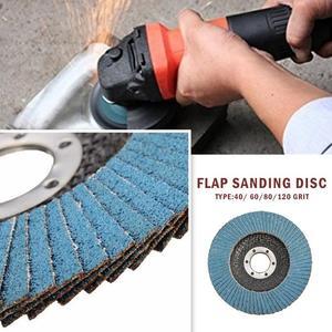 Image 5 - 10PCS 전문 플랩 디스크 115mm 4.5 인치 샌딩 디스크 앵글 그라인더 용 40/60/80/120 그릿 그라인딩 휠 블레이드