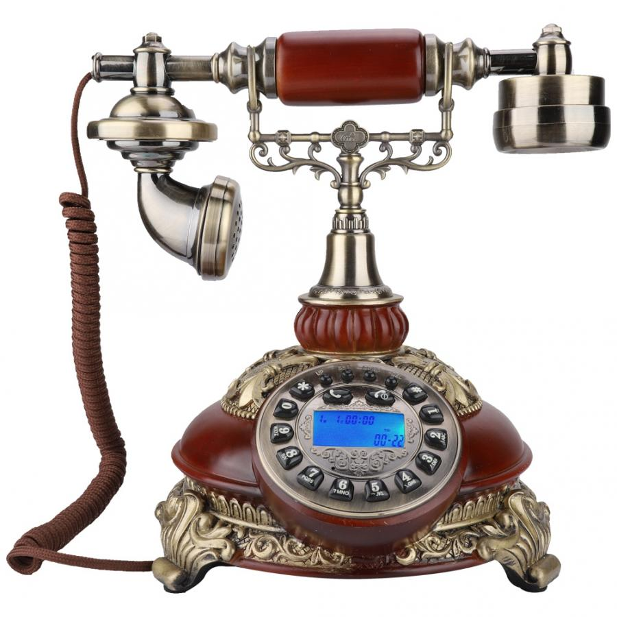 antique 8675C Wireless European Retro Card Telephone Classical Wood Color US 110-240V
