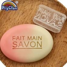 FAIT MAIN SAVON Soap Stamp Transparent Handmade Inpress Pattern Chapter Custom Acrylic Seal With Handle