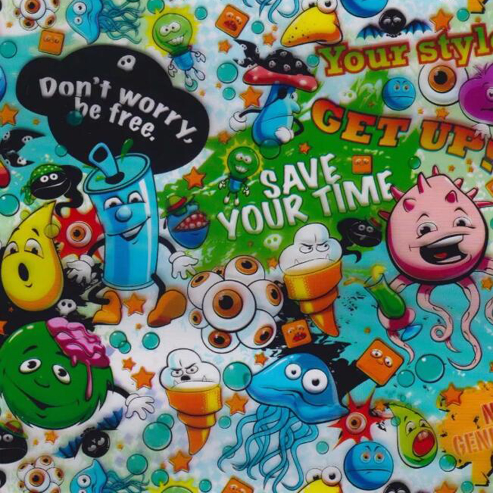 50 100cm Cartoon Water Transfer Printing Film PVA Hydrographic Film Soluble Transfer Printing Film Car Motorbike Decals Sticker in Decals Stickers from Automobiles Motorcycles