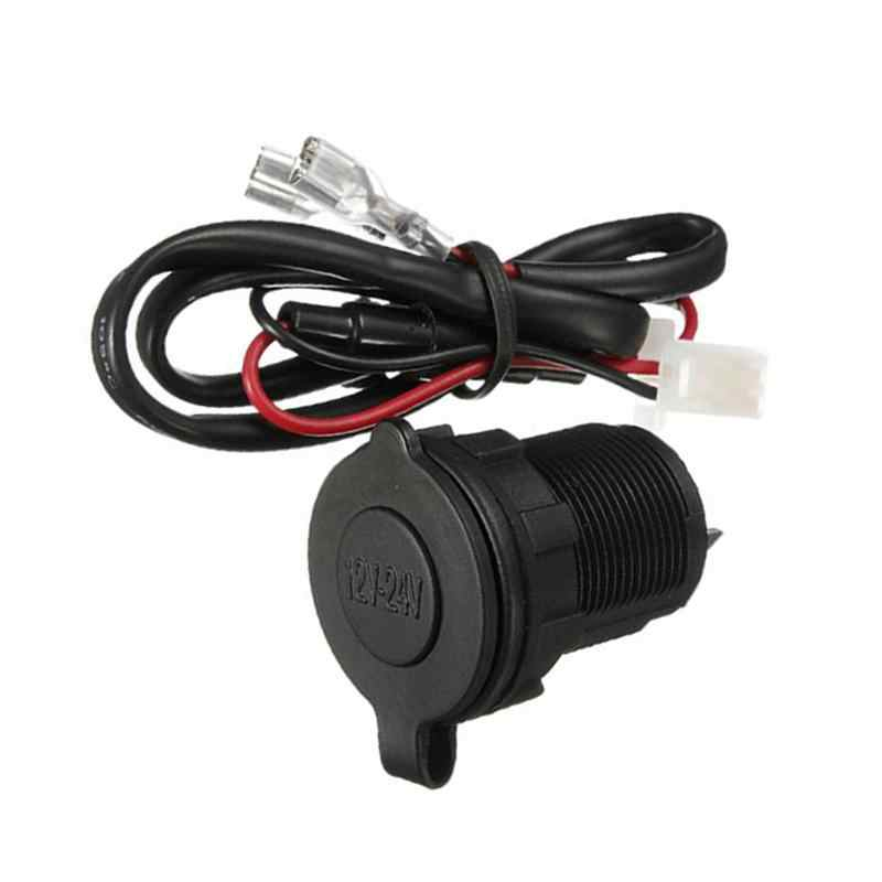 Universal DC 12/24V Waterproof Motorcycle Boat Car Tractor Mower Cigarette Lighter Socket Outlet Adapter