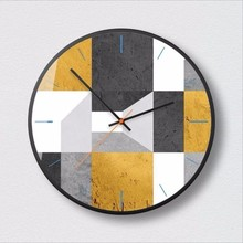 купить New 3D Big Wall Clock Large Size Geometric Wall Clock Modern Design Minimalist Nordic Silent Movement Clocks Decoration For Home онлайн