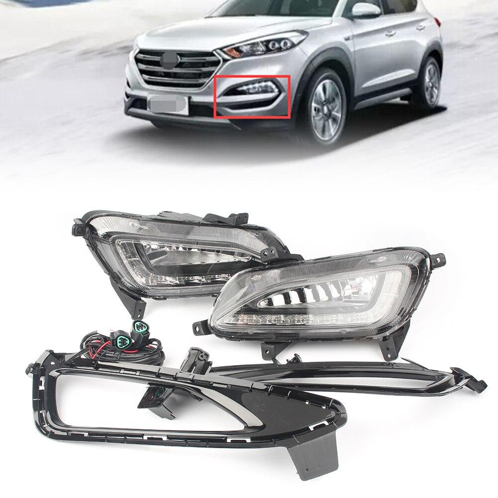 LED DRL Daytime Running Light Fog Lamp for Hyundai Tucson 2016 2017 2018 Waterproof 12V