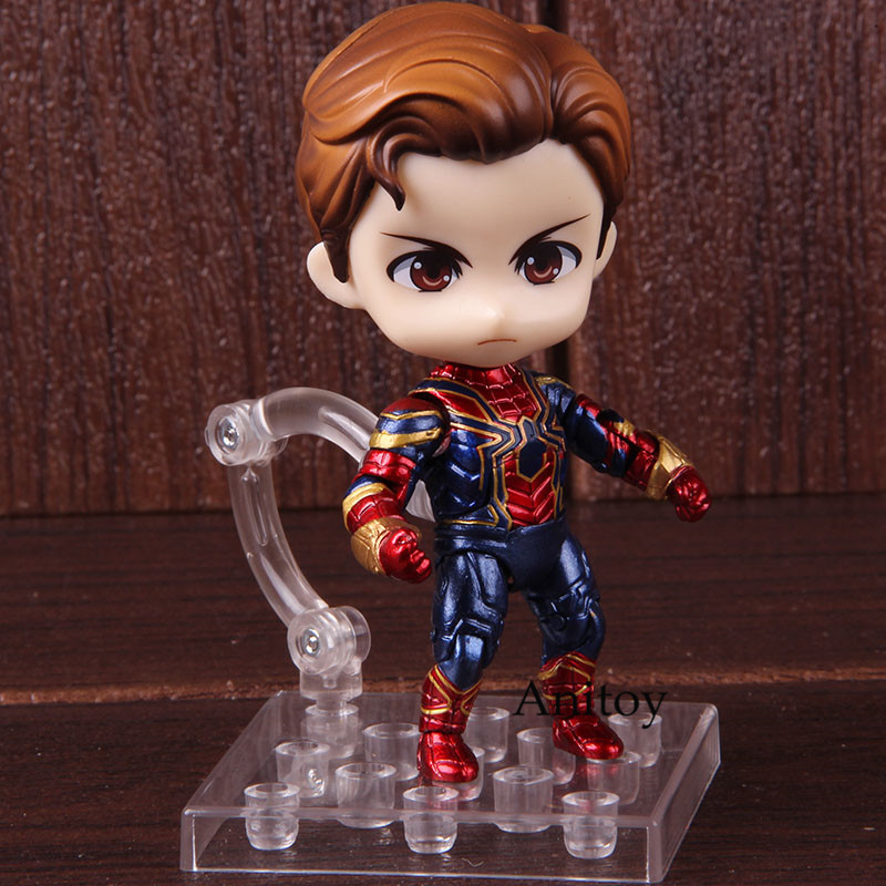 Spiderman Nendoroid 1037 Marvel Avengers Infinity War Iron Spider Action Figure Spider-Man PVC Collectible Model Toy 1