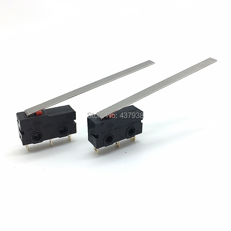 Image 2 - 10PCS Mini Micro Switch Roller ARC Lever SPDT Snap Action 3A 250V AC 5A 125V NC NO C With Pulley 3 Pins Stroke Limit Switch-in Switches from Lights & Lighting