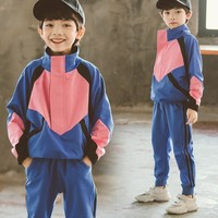 Teenager Boys Sports Suits Toddler Outfits Clothes Kids Track Suits 2 Pcs Patchwork Jacket & Pants Children Spring 2019 Clothing