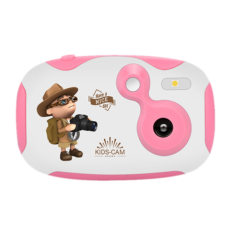Reasonable Amkov Mini Digital Video Camera Built-in Battery With Cartoon Stickers Christmas New Year Birthday Gift For Children