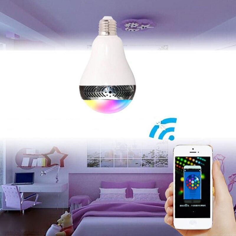Ampoule bluetooth avec haut-parleur lumières musique jouer dimmable intelligent E27 app contrôle led lampe à ampoule led intelligente préfet pour la fête - 6