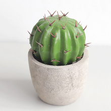Lifelike Simulation Cactus Potted Decoration Resin Ball Fleshy Plant Ornament Bonsai Home Furnishings Supplies