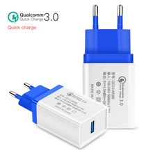 USB Quick Charge 3.0 5V 3A For Apple iPhone 7 Plus EU US Plug 18W Mobile Phone Fast Charging For Samsug Huawei USB Adapter Ipad