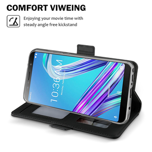 Image 3 - For Asus Zenfone Max Pro M1 ZB601KL/ZB602KL Case with Mirror Kickstand Luxury Leather Flip Stand Wallet Cover ZB602KL Case Card