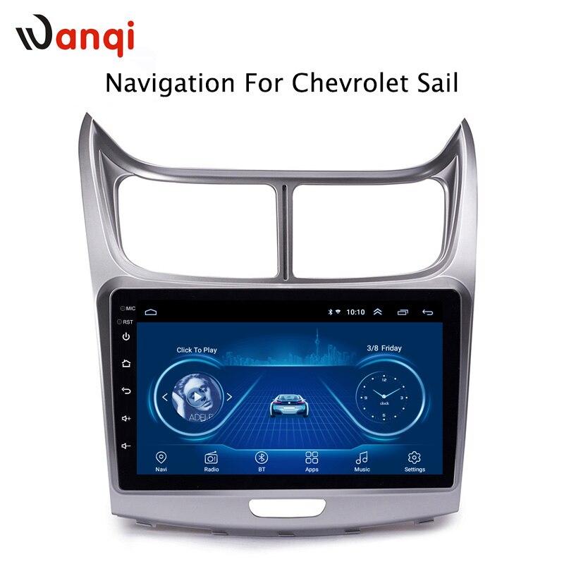 Offre spéciale 9 pouces Android 8.1 lecteur Dvd Gps de voiture pour Chevrolet SAil 2010-2013 intégré Radio vidéo Navigation Bt Wifi
