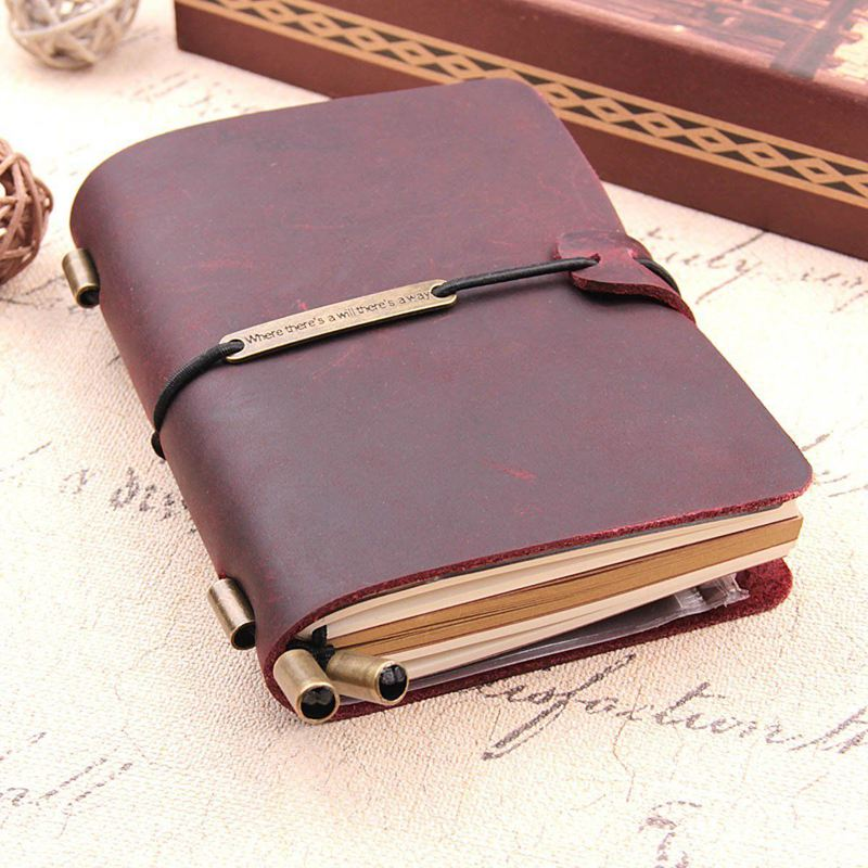 Handmade Traveler's Notebook, Leather Travel Journal Notebook For Men & Women, Perfect For Writing, Gifts, Travelers, 5.2 X 4