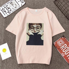 European American Style Women T shirt Fashion Girl Print Short Sleeve O Neck Cotton Spandex Womens Tops Casual Slim T-shirt