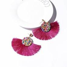 3f2fa6148 Trendy Earrings Drop Earrings Alloy/Beads/Long/Bohemian /Blue/Orange/Round/Metal/Boho/Gold Tassel Earrings For Women Jewelry CS60