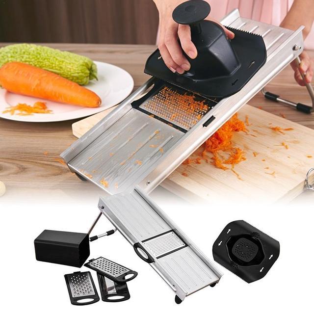 Cucina Trituratore di Patate Carota Cutter In Acciaio Inox Accessori Per la  Grandi Dimensioni Taglio Fetta Strumento Uso Domestico Utensili Da
