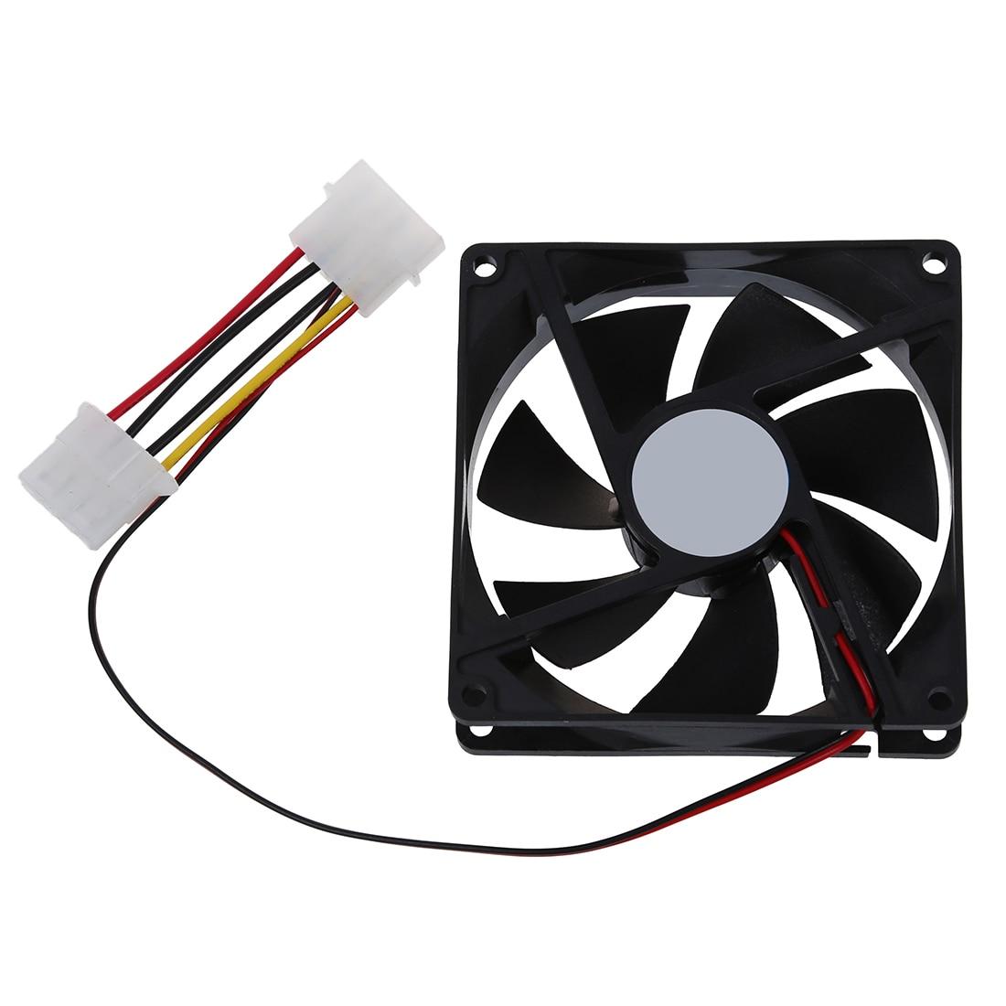 DC 12V 4 Pin Black Plastic PC Cooling Fan 90mm x 90mm x 25mm