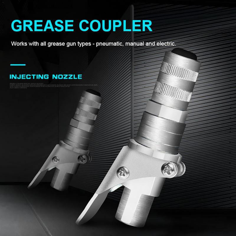 Image 3 - Профессиональный замок смазки плоскогубцы высокого давления смазочный фитинг двойная ручка наполнения головки самоблокирующийся смазочный рот