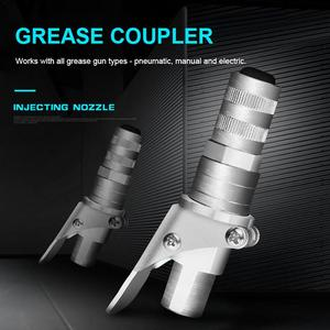 Image 3 - Professional Grease Coupler คีมล็อคแรงดันสูงจาระบีคู่บรรจุหัว Self   Locking จาระบีปาก