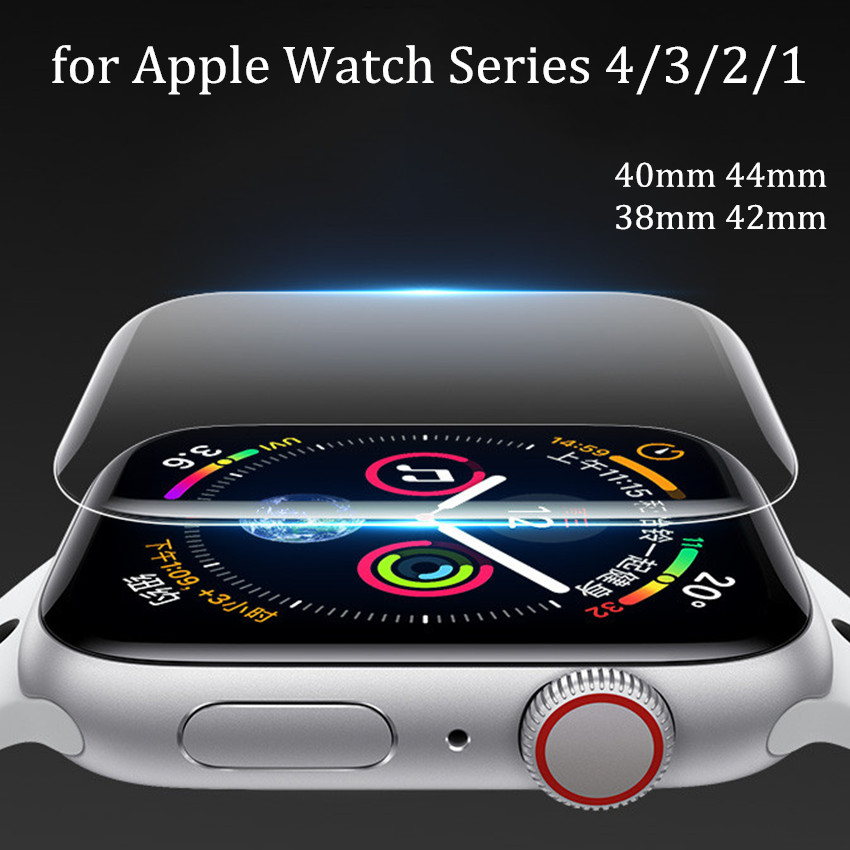 Screen Protector Clear Full Coverage Protective Film for iWatch 4 40MM 44MM (Not Tempered Glass) For Apple Watch 3 2 1 38MM 42MMScreen Protector Clear Full Coverage Protective Film for iWatch 4 40MM 44MM (Not Tempered Glass) For Apple Watch 3 2 1 38MM 42MM