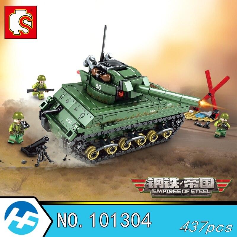 M4 Sherman Medium Tank Empire Empires of steel Military Series Building Blocks Bricks Compatible with legoinset SEMBO 101304 цены