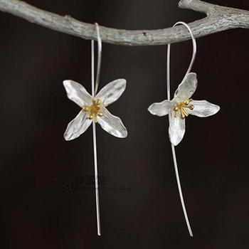 Silver Four Leaf Earings