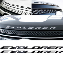 d0692e4e3 DIY 3D السيارات ملصق لاصق لامع ورائع سيارة إكسبلورر خطابات هود شعار كروم  شارات لوجو سيارة ملصقا ل فورد إكسبلورر سيارة التصميم