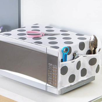 Wodoodporny 1 szt Worek do przechowywania smaru akcesoria kuchenne dwie kieszonki osłony przeciwpyłowe osłona do mikrofalówki kuchenka mikrofalowa tanie i dobre opinie Nowoczesne B650493 Tkaniny