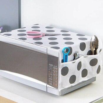 Wodoodporny 1 szt. Worek do przechowywania smaru akcesoria kuchenne dwie kieszonki osłony przeciwpyłowe osłona do mikrofalówki kuchenka mikrofalowa