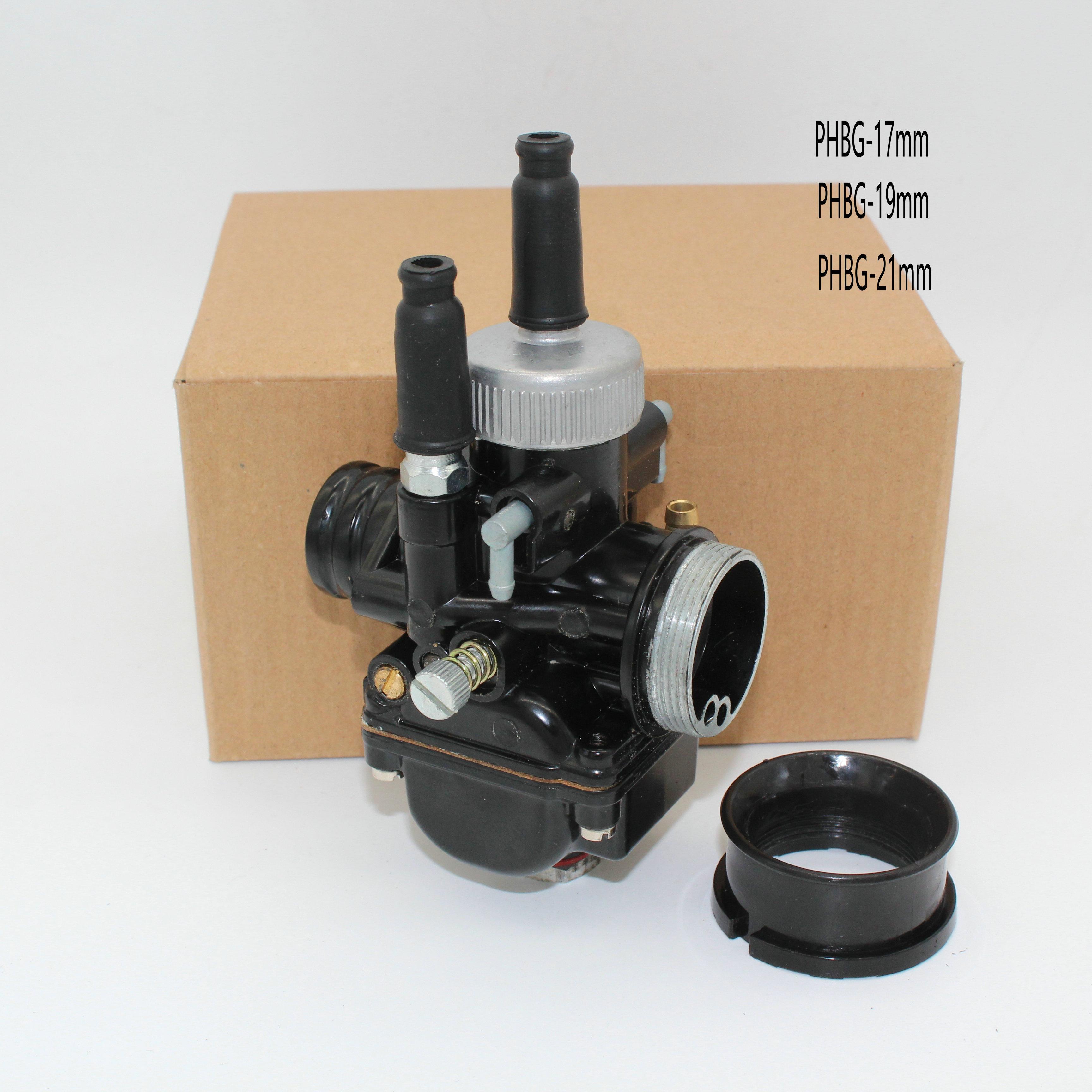 Nouveau carburateur moto noir Racing PHBG 17mm 19mm 21mm réplique Dellorto pour Yamaha KTM Puch Zuma BWS100