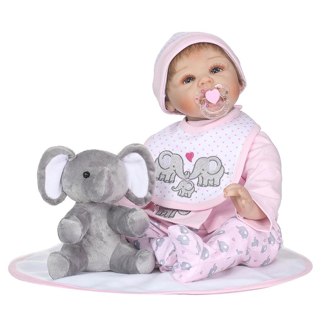 Kids Soft Silicone Realistic With Clothes Pink 2-4Years Reborn Collectibles, Gift, Playmate Unisex Baby DollKids Soft Silicone Realistic With Clothes Pink 2-4Years Reborn Collectibles, Gift, Playmate Unisex Baby Doll