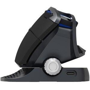 Image 2 - Вертикальная мышь Delux M618X 2,4 ГГц Беспроводной + Bluetooth 3,0/4,0, которые поддерживают несколько режимов Мышь Перезаряжаемые эргономичная Вертикальная USB компьютера игровые 6D мыши
