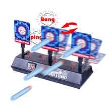 Modiker Электрический тренировочный целевой забор сброс цель с эффектом света и Крит Miss функция для Nerf мяч