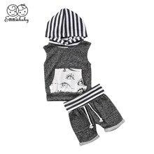 Комплект одежды с динозавром для маленьких мальчиков, комплекты одежды для новорожденных, 6, 12, 18, 24, 36 месяцев, толстовки без рукавов с капюшоном и шорты, комплекты со штанами