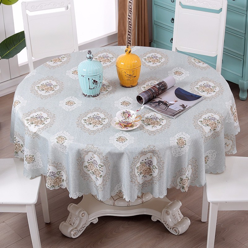 Europe Round Table Cloth Large Size 180/200/220cm Waterproof Floral Tablecloth Dining Sofa Table Dustproof Cover Home tapetes