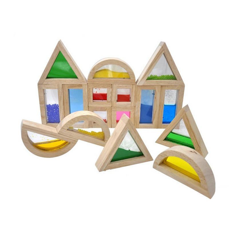 16 шт. для Kidpik звук акрил Радуга Творческий строительные блоки детей раннего образования инновационные обучения головоломки игрушки