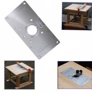Image 5 - 6Pcs סט אלומיניום נתב שולחן הכנס צלחת W/4 טבעות ברגים עבור נגרות כרסום שולחן צלחת ספסלי נתב שולחן צלחת DIY
