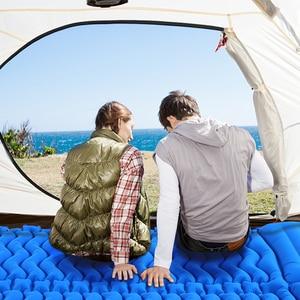 Image 3 - Tomshooダブルスリーピングパッド 2 人超軽量ポータブルマットレスインフレータブルマットキャンピングマットベッド屋外枕