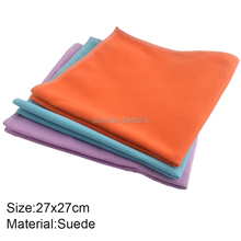 7ce7353cea6 1piece 27x27cm Suede Lens Clothes Eyeglasses Cleaning Cloth Microfiber  Phone custom glasses cleaning cloth(China