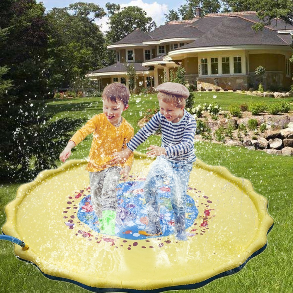 Splash Water Play Camp Mat Sprinkle And Splash Play Mat Toy For Outdoor Swimming Beach Lawn Inflatable Sprinkler Pad Children